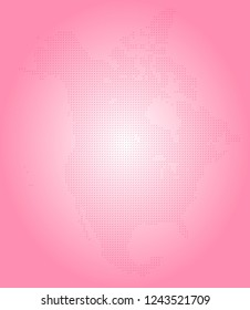 North america vector map made of magenta slashes