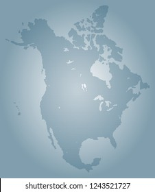 North america vector map made of blue high density slashes