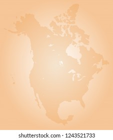 North america vector map made of orange high density slashes