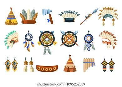 North American Indians Culture Set