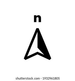 north arrow compass logo vector icon illustration