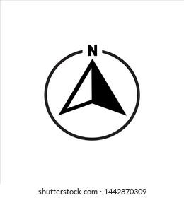 north arrow vector icon. north arrow symbol icon