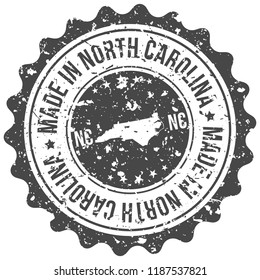 North Carolina Made In Map Travel Stamp Icon City Design Tourism Export Seal