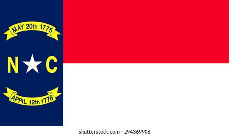 North Carolina state national flag. Vector EPS8
