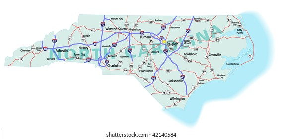 North Carolina Map Images Stock Photos Vectors Shutterstock - North-carolina-map-of-us