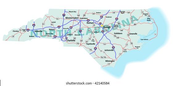 North Carolina Map Images, Stock Photos & Vectors | Shutterstock