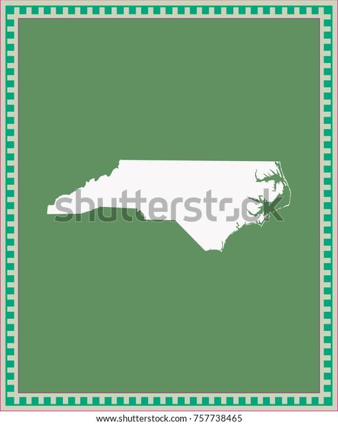 North Carolina State Usa Map Vector Stock Vector (Royalty Free ...