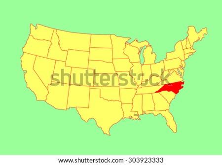 United States Map North Carolina.North Carolina State Usa Vector Map Stock Vector Royalty Free