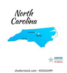 North Carolina USA State Map