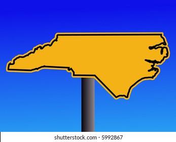 North Carolina warning sign