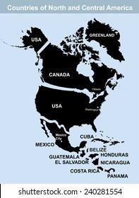 North America Map Stock Illustration 240005083 Shutterstock
