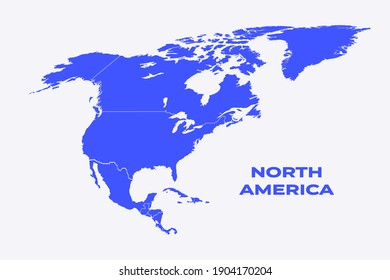 North and Central America map vector illustration eps 10