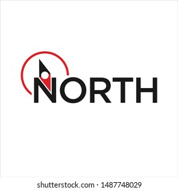 North and Compass vector logo.
