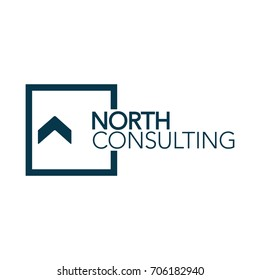 North Consulting Modern Logo Design