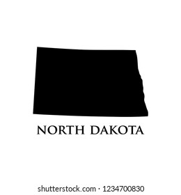 North Dakota map icon vector
