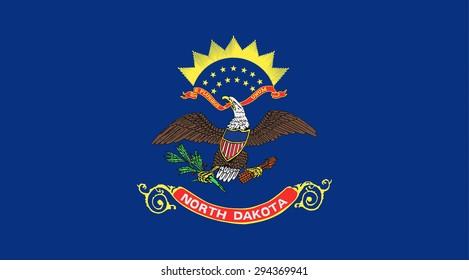North Dakota state national flag. Vector EPS8