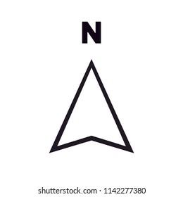 North direction icon vector