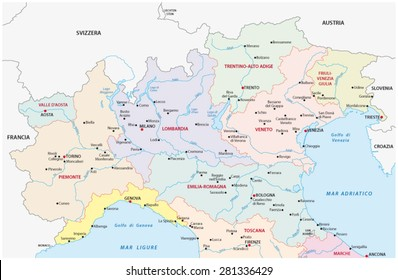 Map Of North Italy.North Italy Map Stock Vectors Images Vector Art Shutterstock