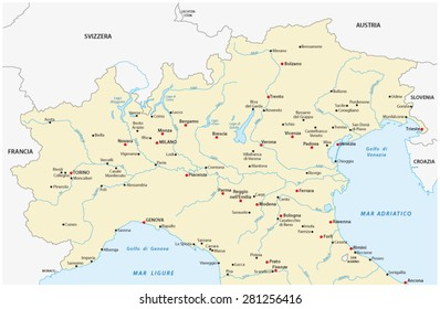 North Of Italy Map.North Italy Images Stock Photos Vectors Shutterstock