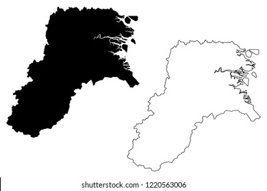 North Kalimantan (Subdivisions of Indonesia, Provinces of Indonesia) map vector illustration, scribble sketch North Kalimantan map