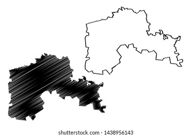 North Kazakhstan Region (Republic of Kazakhstan, Regions of Kazakhstan) map vector illustration, scribble sketch North Kazakhstan map