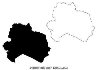North Khorasan Province (Provinces of Iran, Islamic Republic of Iran, Persia) map vector illustration, scribble sketch North Khorasan map