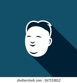 North Korean leader icon. Vector Illustration