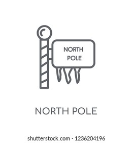 North pole linear icon. Modern outline North pole logo concept on white background from Christmas collection. Suitable for use on web apps, mobile apps and print media.