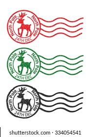 North Pole Reindeer Postmarks