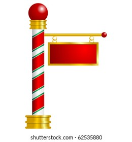 North Pole sign with space to insert your text