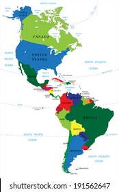 Central and South America Map Images, Stock Photos & Vectors ... on