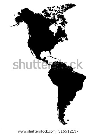 North South America Map Stock Vector Royalty Free 316512137