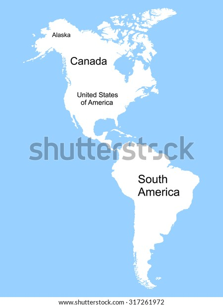 North South America Map Stock Vector (Royalty Free) 317261972