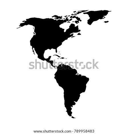 American Map Vector.North South America Map American Continent Stock Vector Royalty