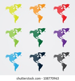 Map North South America Dots Stock Vector (Royalty Free) 108255302 ...