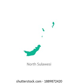 north sulawesi province green map vector