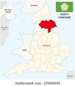 Uk Map Yorkshire Stock Illustrations Images Vectors Shutterstock