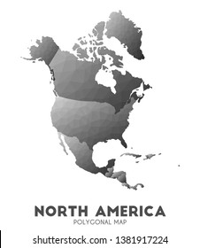 North-america Map. actual low poly style continent map. Modern vector illustration.