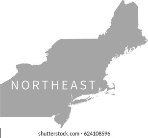 Northeast Region US Map