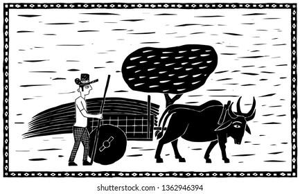 Northeastern Ox Cart