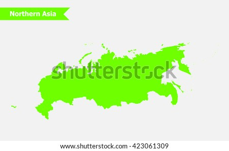 Northern Asia North Asia Map Vector Stock Vector (Royalty Free ...