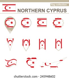 Northern Cyprus Flag Collection, 12 versions