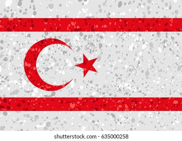 northern cyprus flag grunge illustration