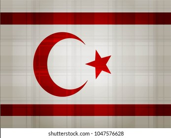 Northern Cyprus Flag vector illustration. National Flag of Northern Cyprus.