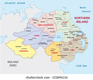 northern ireland administrative map