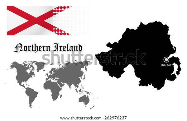 Northern Ireland Info Graphic Flag Location Stock Vector (Royalty ...