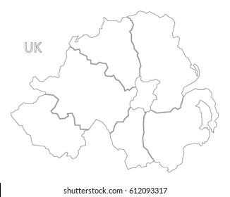 Map Of Northern Ireland Counties.Northern Ireland Counties Map Images Stock Photos Vectors