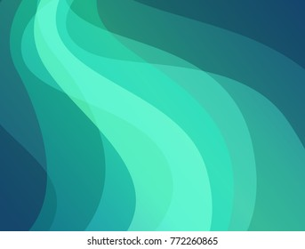 Northern Lights, Abstract Background with Aurora Borealis, Vector Illustration