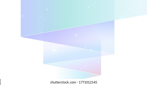 Northern lights abstract vector background isolated on white