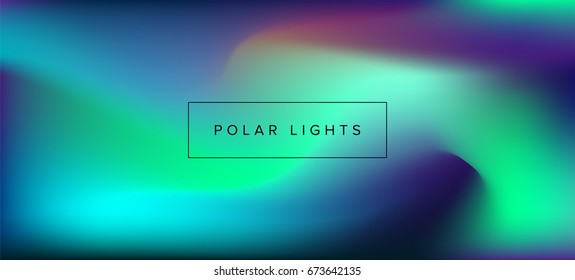 Northern lights, polar lights, luminescence. Vector blurred background.
